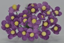 1.3cm LILAC VIOLET SINGLE-LAYERED Daisy Mulberry Paper Flowers